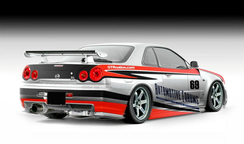 AutomotiveForums.com Nissan Skyline GT-R R34 rear
