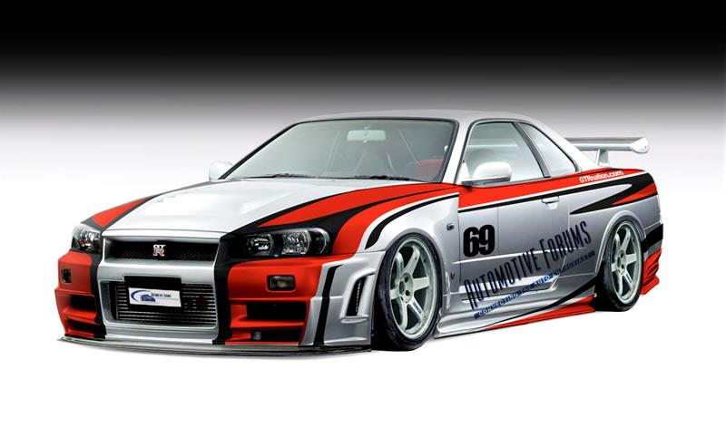 AutomotiveForums.com Nissan Skyline GT-R R34 front