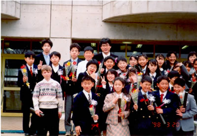 Igor Sushko on graduation day at Matsushiro elementary school in Tsukuba