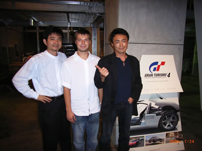 From left to right: Mr. Tamura, Igor Sushko, and Mr. Yamauchi