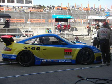 Porsche 911 GT3 RSR at Okayama in Super GT