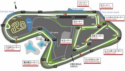 Sugo Track Map