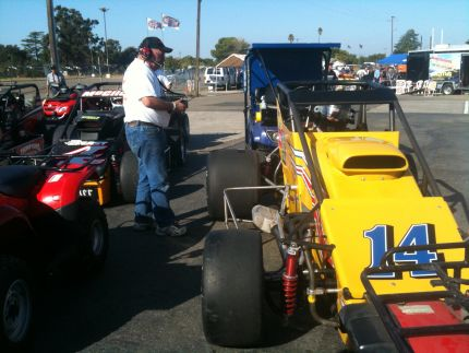 Ken Pierson and Pierson Racing Bos Sheet Metal USAC Sprint Car