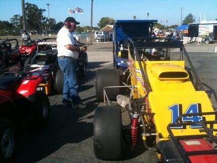 Ken Pierson and Pierson Racing Bos Sheet Metal USAC Sprint Car