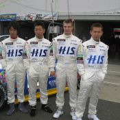 The four drivers of the #333 Z for Tokachi 24 hour race. From left - Sugino-san, Maejima Shuji-san, Igor Sushko, and Yamazaki Ma