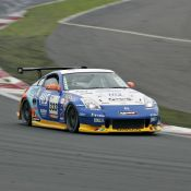 The H.I.S. Nissan Fairlady Z piloted by Igor Sushko at Fuji Speedway. Pictured is the exit of the Netz corner, a very technical
