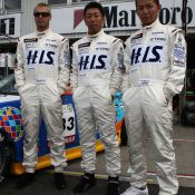 The pit-walk for the Super Taikyu series at Okayama Circuit. The H.I.S. Nissan Fairlady Z, piloted by Igor Sushko and Maejima Sh