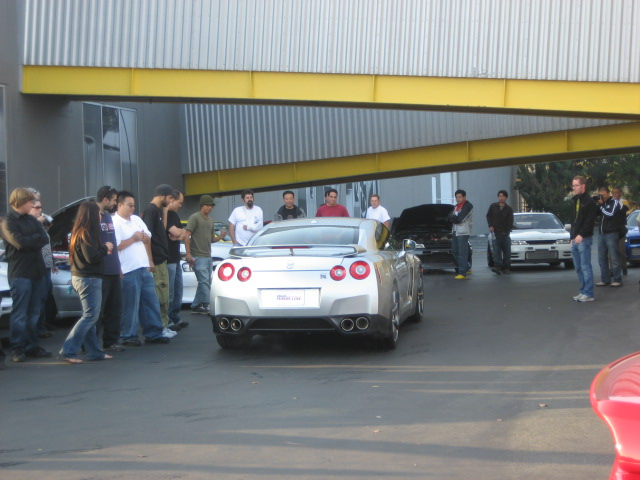 R35 Nissan GT-R event at Chiat Day after L.A. Auto Show.