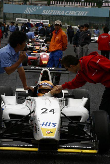 Igor Sushko on the grid at Suzuka - FCJ May 11th, 2008.