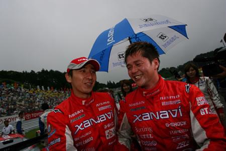 NISMO Super GT GT500 #23 Z drivers - Matsuda and Motoyama