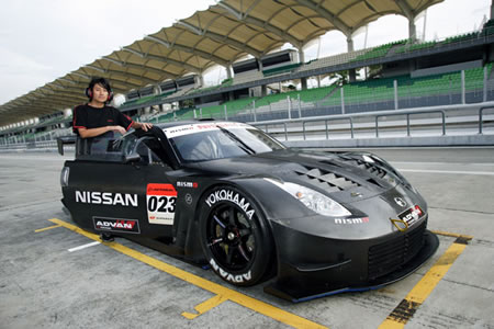 A GT500 Z tire testing