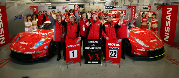 The NISMO Team celebrates its 2005 Team Championship Title