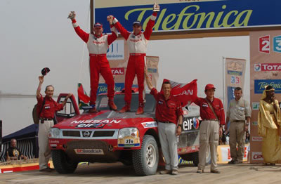 In 2005, the Nissan Frontier finished 4th in Paris Dakar rally.