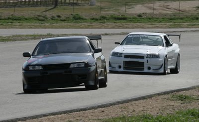 The R32 Nissan Skyline GT-R and the R34 Nissan Skyline GT-R certainly show much resemblance to each other